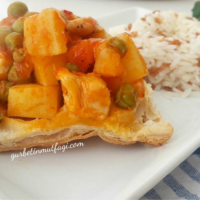 Gurbetin Mutfağı – Milföylü Tavuklu Bezelye Yemeği Tarifi ...
