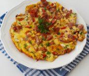 Yumurtadan Pizza Tarifi-Omlet Nasıl Yapılır-Gurbetinmutfagi