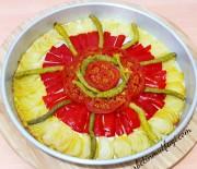 Fırında Soğan Biber Kızartması